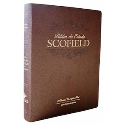 Bíblia de Estudo Scofield  | ACF | Letra Média C/ Concordância | Capa Marrom Luxo