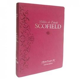 Bíblia de Estudo Scofield  | ACF | Letra Média C/ Concordância | Capa Rosa Cereja Luxo