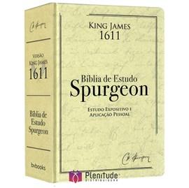Bíblia de Estudo Spurgeon | King James 1611 | Letra Grande | Luxo | Creme