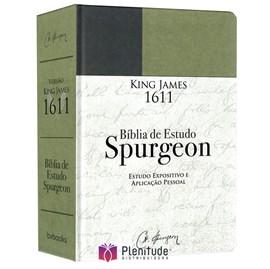 Bíblia de Estudo Spurgeon | King James 1611 | Letra Grande | Luxo | Verde