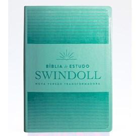 Bíblia de Estudo Swindoll | NVT | Letra Grande | Capa Sintética | Por do Sol Aqua