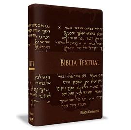 Bíblia de Estudo Textual | Letra Gigante | Capa Marrom Luxo