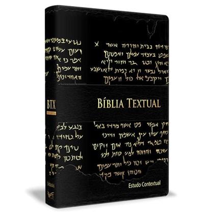 Bíblia de Estudo Textual   Letra Gigante   Capa Preta Luxo