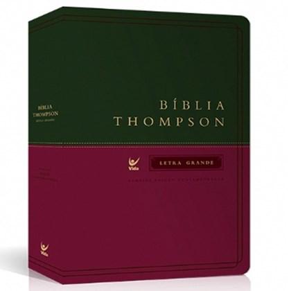 Bíblia de Estudo Thompson   AEC Letra Normal   Verde e Vinho   s/ índice