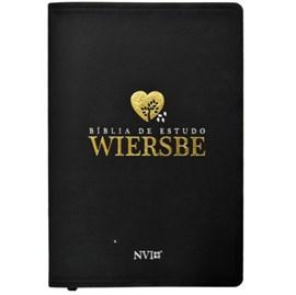 Bíblia de Estudo Wiersbe | NVI | Luxo Preta