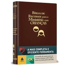 Bíblia de Recursos para o Ministério com Crianças | Apec | ARA | Marrom Luxo