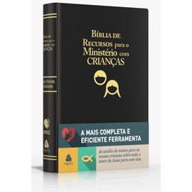 Bíblia de Recursos para o Ministério com Crianças   Apec   ARA   Preta Luxo