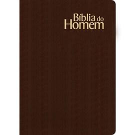 Bíblia do Homem Média | NVI | Letra Normal | Luxo Marrom
