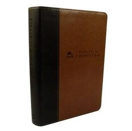 Bíblia do Ministro | NVI Letra Normal | Marrom Claro e Escuro
