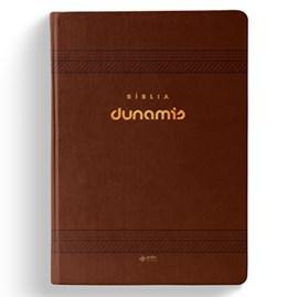 Bíblia Dunamis Clássica Marrom | NAA | Letra Normal | Capa Luxo
