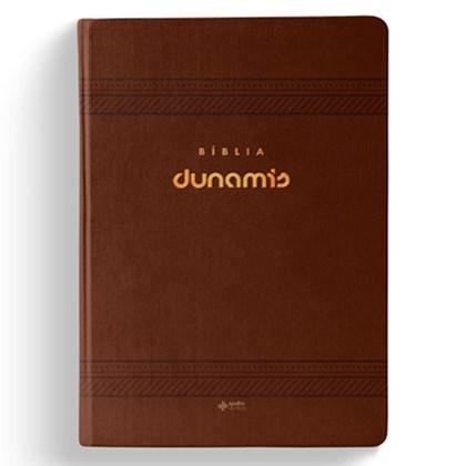 Bíblia Dunamis Clássica Marrom   NAA   Letra Normal   Capa Luxo