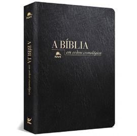 Bíblia em Ordem Cronológica | NVI Letra Normal | Capa Luxo Preta