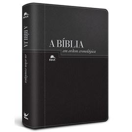 Bíblia em Ordem Cronológica | NVI Letra Normal | Capa Luxo Preta / Prata