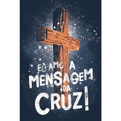 Bíblia Eu Amo a Mensagem da Cruz   NAA Letra Normal   Capa Dura Soft-Touch