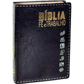 Bíblia Fé e Trabalho | Letra Normal | NAA | Capa Flexível Preta