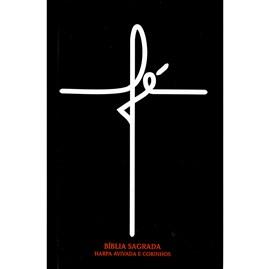 Bíblia Fé Preta | ARC | Letra Normal | Harpa e Corinhos | Capa Dura