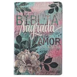 Bíblia Flor Artística | NVI | Letra Normal | Capa Dura