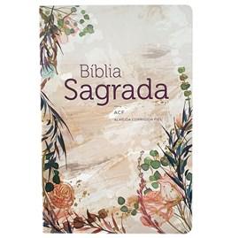 Bíblia Flor Marmorizada | ACF | Letra Normal | Capa Dura