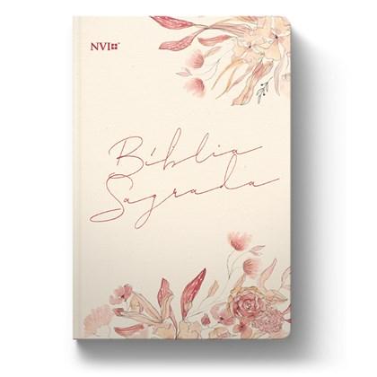 Bíblia Floral Creme | NVI | Letra Normal | Capa Dura