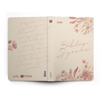 Bíblia Floral Creme | NVI | Letra Normal | Capa Flexível