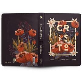 Bíblia Flores Tropicais Cristo | NVT | Letra Normal | Capa Dura Preto