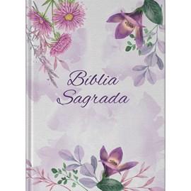 Bíblia Flores Violeta | NAA | Letra Grande | Capa Dura
