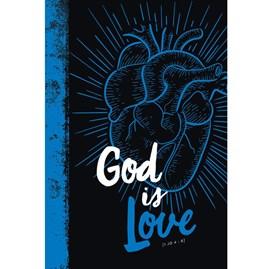 Bíblia God is Love 2.0 | NVT Letra Grande | Capa Dura Azul