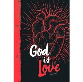 Bíblia God Is Love | NVT | Capa Dura Branca Vermelho