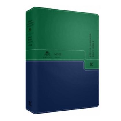 Bíblia - Holy Bible | Português e Inglês | NVI | Verde e Azul