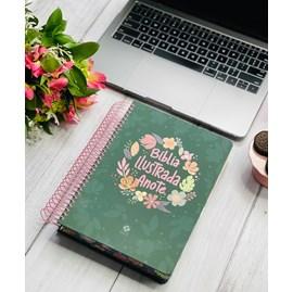 Bíblia Ilustrada Anote Cores e Flores | NVT | Letra Normal | Capa Dura Espiral