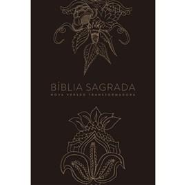Bíblia Indian Flowers Dourada | NVT | Letra Normal | Capa Dura