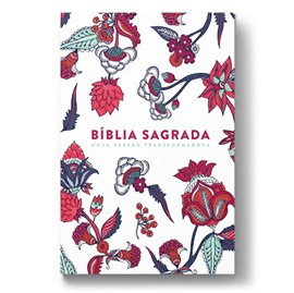 Bíblia Indian Flowers | NVT Letra Grande | Capa Soft Touch