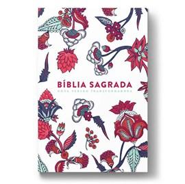 Bíblia Indian Flowers | NVT Letra Grande | Capa Soft Touch