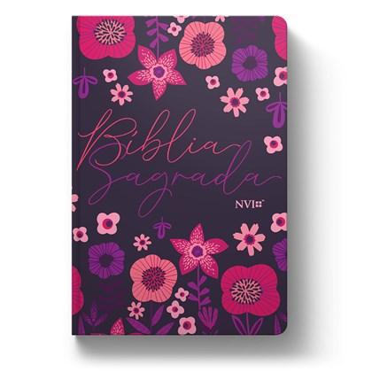 Bíblia Jardim Floral Roxa | NVI | Letra Normal | Capa Dura