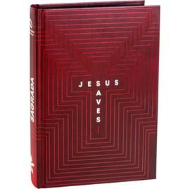 Bíblia Jesus Saves | NAA | Letra Grande | Capa Dura Vermelha