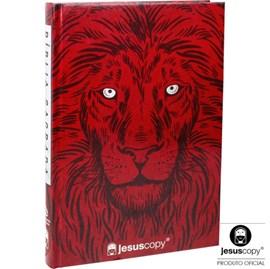 Bíblia JesusCopy Leão Vermelho   NAA   Capa Dura