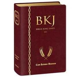 Bíblia King James 1611 Com Estudo Holman BKJ Vinho