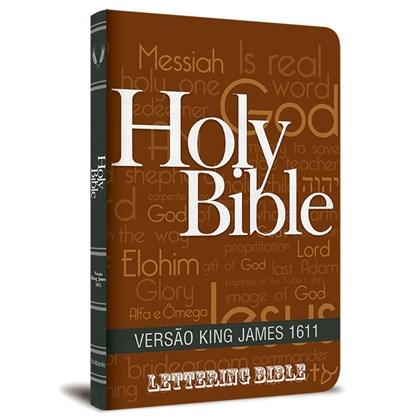 Bíblia King James 1611 Ultra Fina Lettering Bible | Letra Normal | Capa Holy Bible