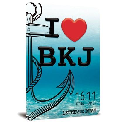 Bíblia King James 1611 Ultra Fina Lettering Bible | Letra Normal | Capa I Love BKJ