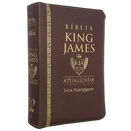 Bíblia King James Atualizada | KJA | Letra Hipergigante | Capa Marrom C/ Zíper