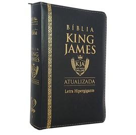 Bíblia King James Atualizada | KJA | Letra Hipergigante | Capa Preta C/ Zíper