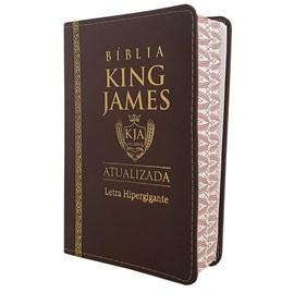 Bíblia King James Atualizada | KJA | Letra Hipergigante | Capa PU Marrom