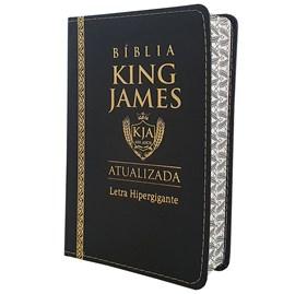 Bíblia King James Atualizada | KJA | Letra Hipergigante | Capa PU Preta