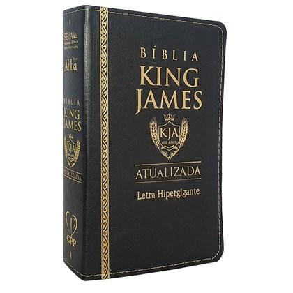 Bíblia King James Atualizada   KJA   Letra Hipergigante   Capa PU Preta