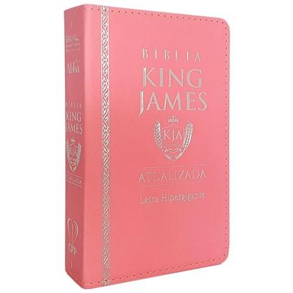 Bíblia King James Atualizada   KJA   Letra Hipergigante   Capa PU Rosa