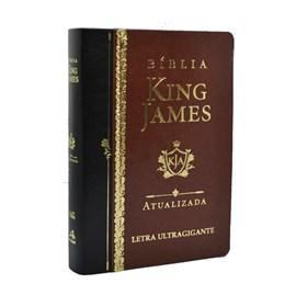 Bíblia King James Atualizada | KJA | Letra Ultra Gigante | Capa Marrom e Preta