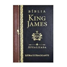 Bíblia King James Atualizada   KJA   Letra Ultra Gigante   Capa Preta e Marrom