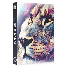Bíblia Leão Aquarela Consumador | NAA | Letra Normal | Capa Dura