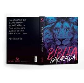 Bíblia Leão Azul | NAA Letra Normal | Capa Dura