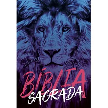 Bíblia Leão Azul   NAA Letra Normal   Capa Dura